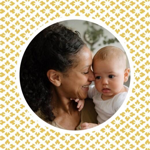 Faire-part de naissance On dirait le sud grand triptyque jaune - Page 3