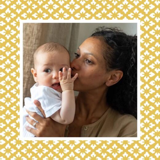 Faire-part de naissance On dirait le sud grand triptyque jaune - Page 6