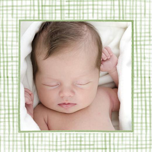 Faire-part de naissance Chien aquarelle 2 photos blanc - Page 2