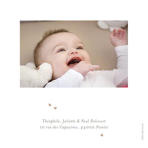 Faire-part de naissance Chien aquarelle 2 photos blanc - Page 4