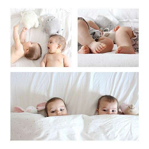 Faire-part de naissance Lovely family jumeaux (fille et garçon)