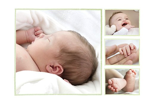 Faire-part de naissance Chien aquarelle 5 photos blanc - Page 2