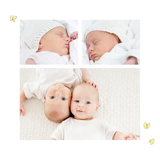 Faire-part de naissance Petits lapins jumeaux garçons - Page 2