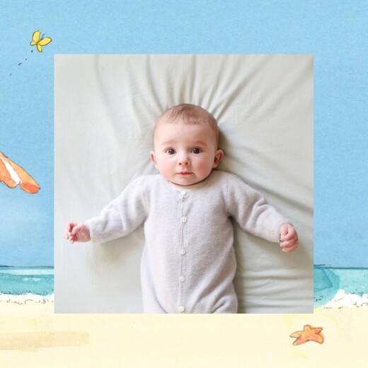 Faire-part de naissance Conte d'été (triptyque) bleu - Page 2