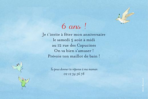 Carte d'anniversaire Conte d'été bleu - Page 2