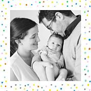 Faire-part de naissance Happy (triptyque) blanc page 2