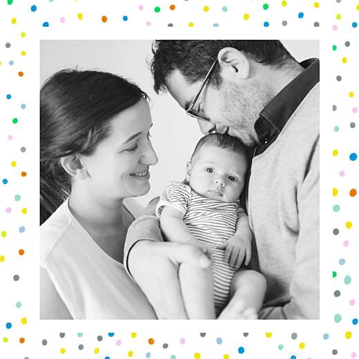 Faire-part de naissance Happy (triptyque) blanc - Page 2