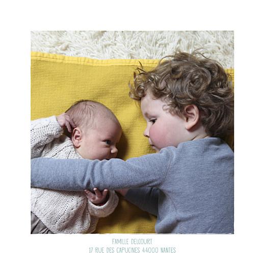 Faire-part de naissance Wax flower photo rv turquoise - Page 2