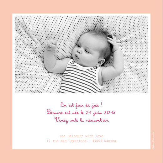 Faire-part de naissance Cherry chou photo rose - Page 2