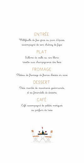 Menu de mariage Jour de fête (4 pages) crème - Page 3