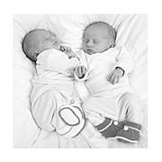 Faire-part de naissance Jeux d'enfants jumeaux gris page 5