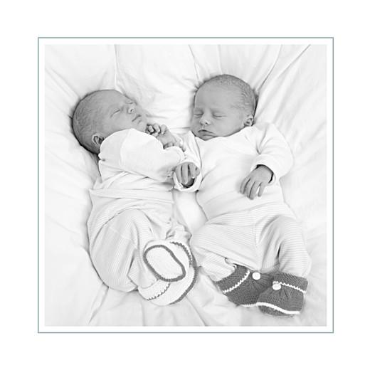 Carte de remerciement Petit jeux d'enfants jumeaux gris - Page 2