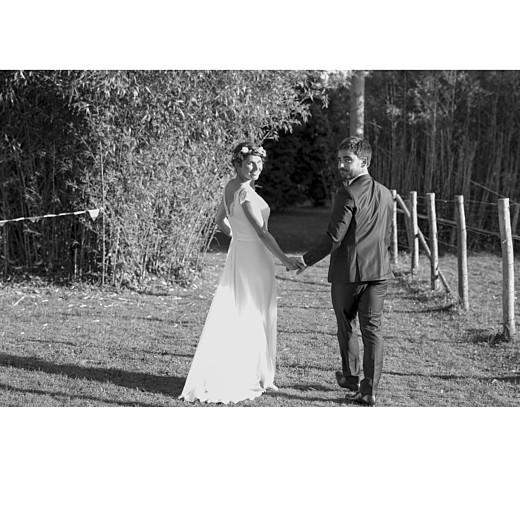 Carte de remerciement mariage Simple  4 photos (triptyque) corail - Page 4
