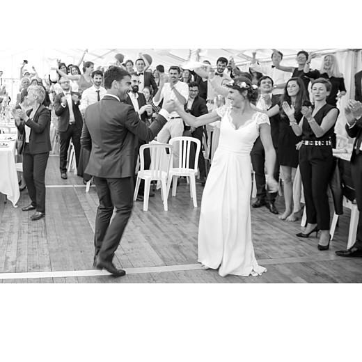 Carte de remerciement mariage Simple  4 photos (triptyque) corail - Page 5