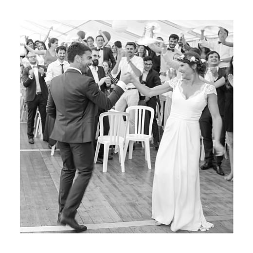 Carte de remerciement mariage Souvenir 4 photos (triptyque) bleu - Page 6