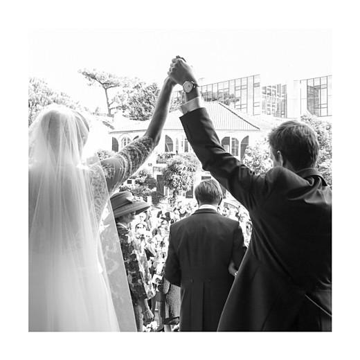 Carte de remerciement mariage Chic 3 photos (triptyque) corail - Page 5
