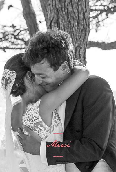 Carte de remerciement mariage Bel instant 1 photo portrait corail finition