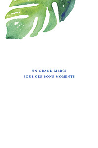 Carte de correspondance vert acapulco blanc & vert