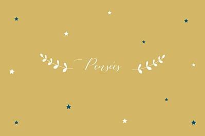 Carte de correspondance Étoiles ocre finition