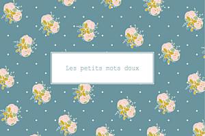 Carte de correspondance Souvenir bleu canard