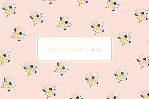Carte de correspondance rose souvenir rose