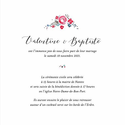 Faire Part De Mariage Romance 4 Pages Rosemood Be