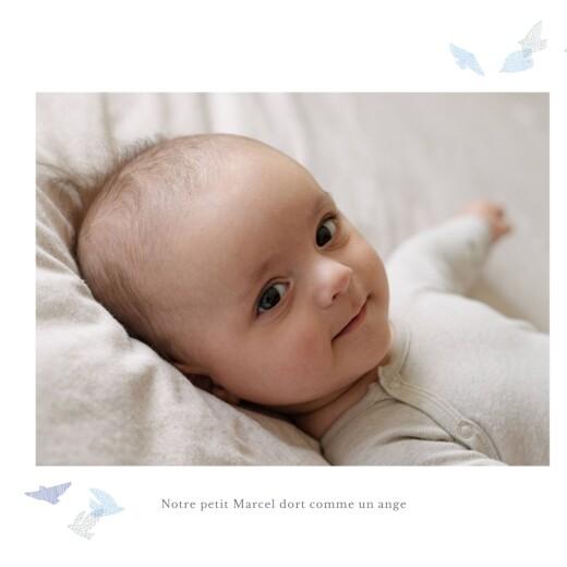 Faire-part de naissance Envolée d'oiseaux photos 4p bleu - Page 2