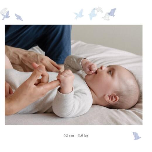 Faire-part de naissance Envolée d'oiseaux photos 4p bleu - Page 3