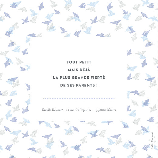 Faire-part de naissance Envolée d'oiseaux photos 4p bleu - Page 4