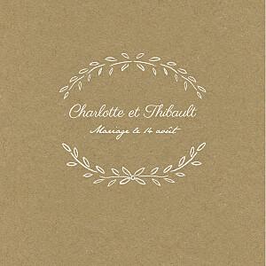 Faire-part de mariage kraft poème (triptyque) kraft