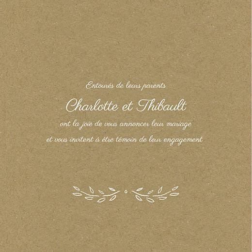 Faire-part de mariage Poème (triptyque) kraft - Page 2