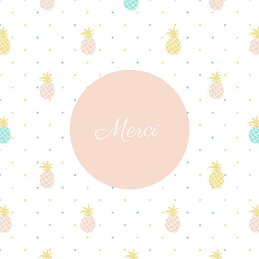 Carte de remerciement Petit ananas rose