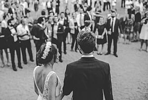 Carte de remerciement mariage bleu nature chic bleu