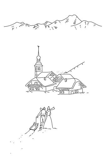 Faire-part de mariage Promesse d'hiver portrait blanc - Page 2