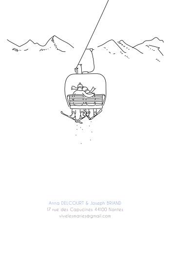 Faire-part de mariage Promesse d'hiver portrait blanc - Page 4