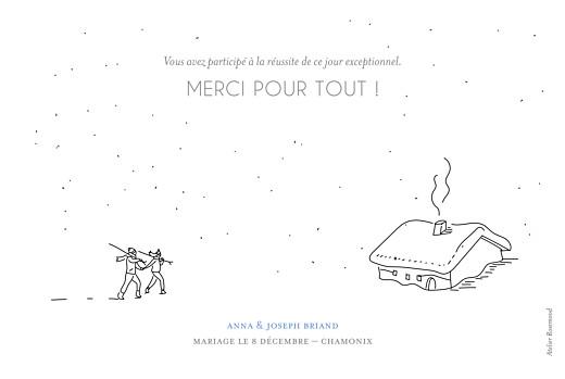 Carte de remerciement mariage Promesse d'hiver blanc - Page 2