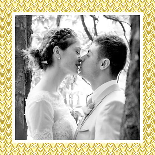 Carte de remerciement mariage Seigaiha jaune - Page 5