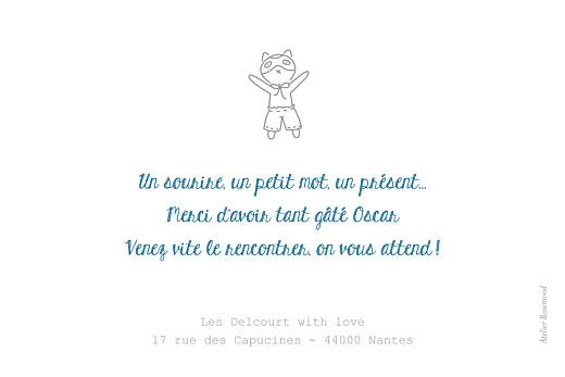 Carte de remerciement Merci petit doudou blanc - Page 2