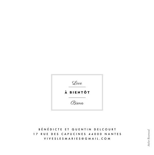 Carte de remerciement mariage Étiquette 4 pages blanc - Page 4