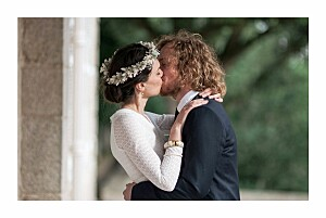Carte de remerciement mariage petite alma  journée de printemps blanc