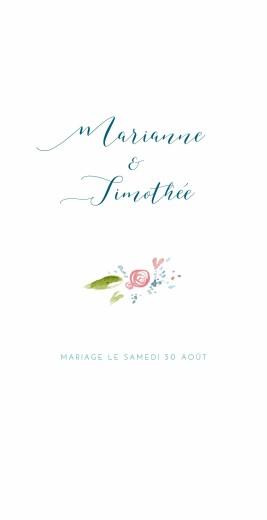Menu de mariage Journée de printemps blanc