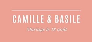 Etiquette de mariage orange trait contemporain corail