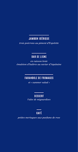 Menu de mariage Trait contemporain (4 pages) bleu nuit - Page 3