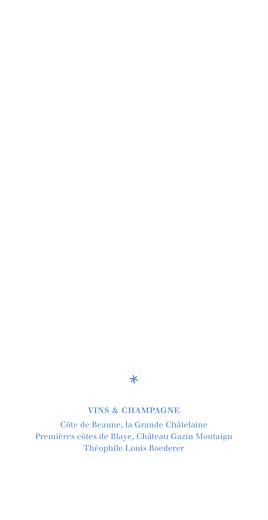 Menu de mariage Carré contemporain (4 pages) bleu - Page 2