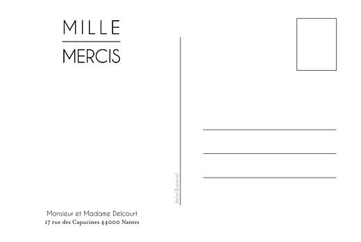 Carte de remerciement mariage Toi & moi carte postale blanc - Page 2