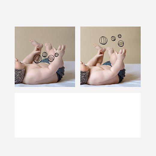 Faire-part de naissance Mon petit jongleur noir - Vue 2