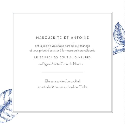 Faire-part de mariage Gravure chic bleu - Page 3