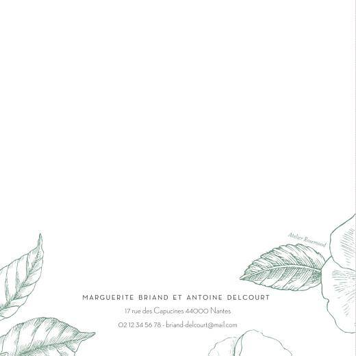 Faire-part de mariage Gravure chic vert - Page 4