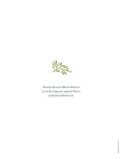 Faire-part de mariage Murmure de forêt (portrait) vert - Page 2
