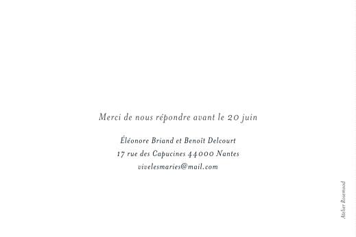 Carton d'invitation mariage Murmure de forêt vert - Page 2